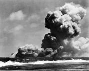 USS Wasp (CV-7) burning 15 Sep 1942