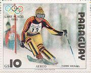 Hanni Wenzel 1979 Paraguay stamp