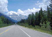 Highway 16 (Yellowhead Highway) while passing through Mt. Robson Provincial Park