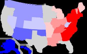US states by date of statehood RWB