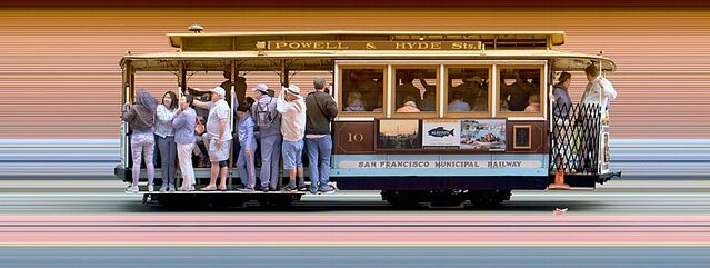 Strip photo of San Francisco Cable Car 10
