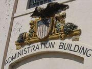 Exterior of administration building, Alcatraz Island (2005)