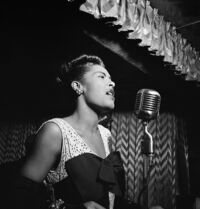 Billie Holiday, Downbeat, New York, N.Y., ca. Feb. 1947 (William P. Gottlieb 04251)