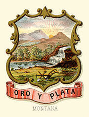 Montana territory coat of arms (illustrated, 1876)
