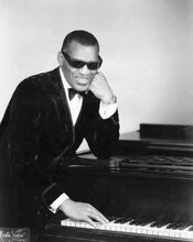 Ray Charles classic piano pose
