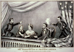 The Assassination of President Lincoln - Currier and Ives 2