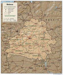 Belarus 1997 CIA map