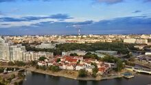 Minsk. A view of Svislach river