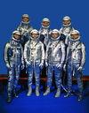 Original 7 Astronauts in Spacesuits - GPN-2000-001293