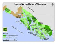 Tongass NF - map of wilderness areas