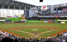 Marlins First Pitch at Marlins Park, April 4, 2012 (cropped)