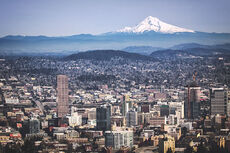 Portland, OR and Mount Hood from Pittock Mansion