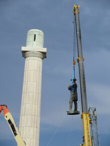 Robert E Lee statue removed from column New Orleans 19 May 2017 12