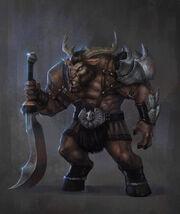 Goat horned trolloc by t biddy-d5e6t46