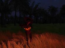 Burning zombie 1