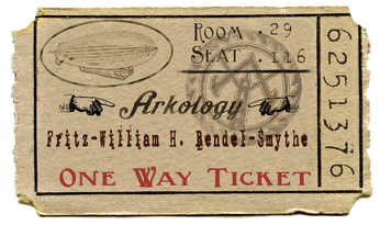 The white Zeppelin ticket