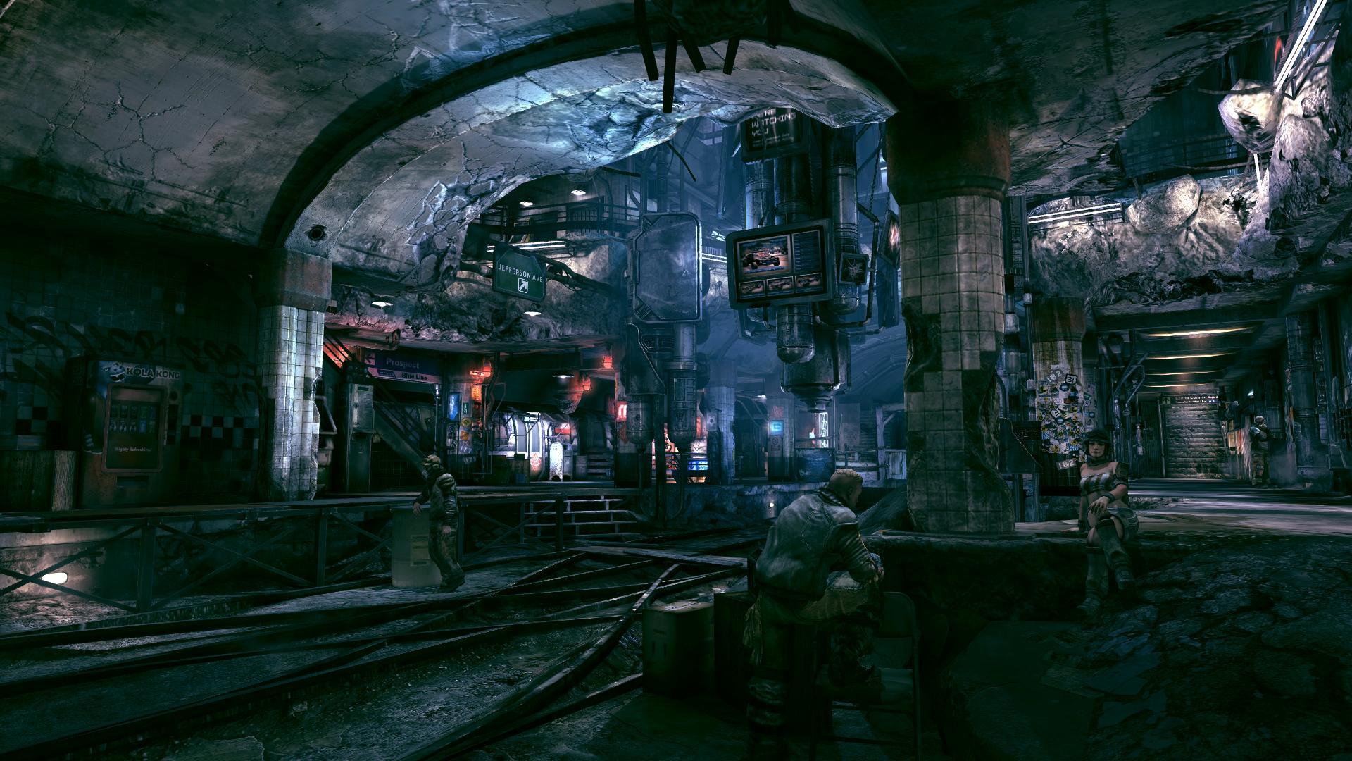 Fantasy Art Underground Ruined Town