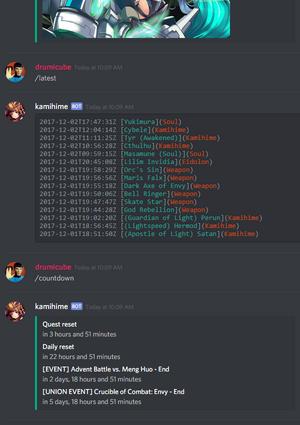 Kamihime Discord bot   Kamihime Project Wiki   FANDOM