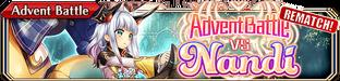 Advent Battle vs Nandi (Rematch) - Small Banner