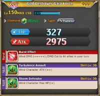 FLB God Destroyer Gaia Force +99