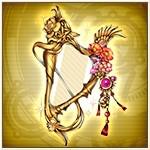 Lacquer Princess' Harp Portrait