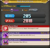 FLB Dark Axe of Envy +99