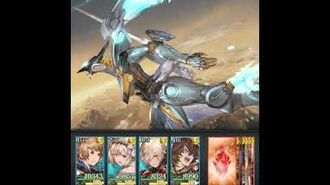 Granblue Fantasy x Anubis Zone of the Enders M∀RS JEHUTY summon (at level 1)