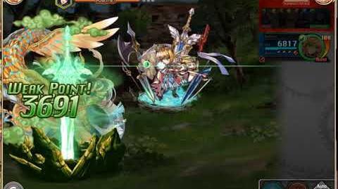 Kamihime Project - Excalibur Burst Animation