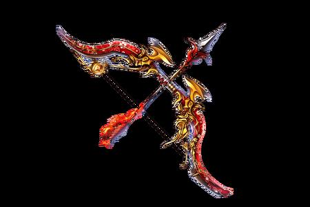 Scarlet Flame Sakura Bow