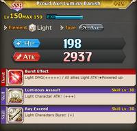 FLB Proud Axe Lumina Banish +99