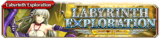Labyrinth Exploration - Temple of Thunder - Small Banner