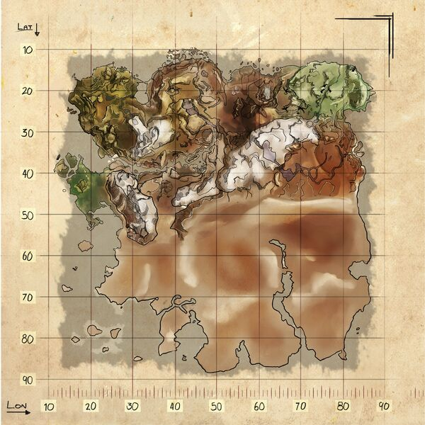 map ragnarok ark survival evolved map wiki fandom powered by wikia. Black Bedroom Furniture Sets. Home Design Ideas