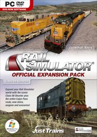 Rail Simulator Official Expansion Pack box