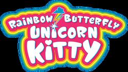Rainbow Butterfly Unicorn Kitty logo