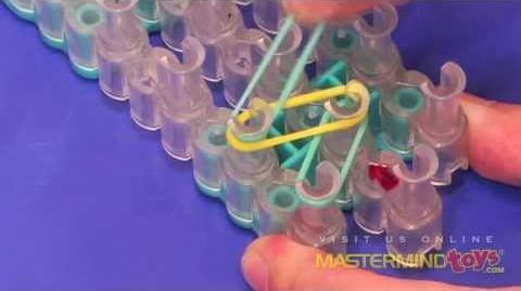 How To Make the Rainbow Loom Single Band Bracelet-0