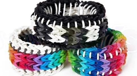 Rainbow Loom Sailors Pinstripe Tutorial - How to make a Reversible Glow Pin Bracelet