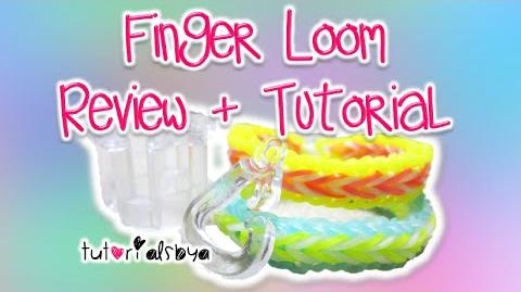 NEW Finger Loom Review Tutorial Fishtail & Single Border Rainbow Loom-2