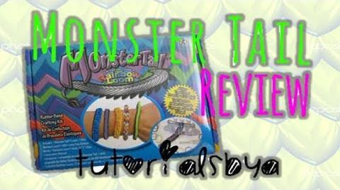 NEW MONSTER TAIL RAINBOW LOOM REVIEW OVERVIEW
