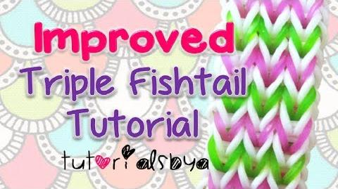 NEW & IMPROVED Triple Fishtail Bracelet Rainbow Loom Tutorial- EASY VERSION- OFFICIAL VIDEO