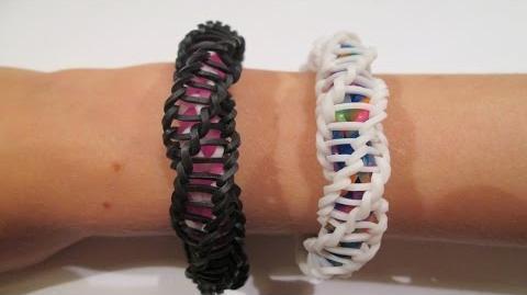 "Rainbow Loom - Spirilla Bracelet (Variation of the ""Frozen"" bracelet by rainbow loom)"