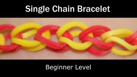 Rainbow Loom® Single Chain Bracelet - Lesson 1