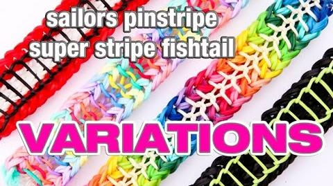 How to make the Sailors Pinstripe Super Stripe Fishtail Rainbow Loom Stitches Adjusted Variations