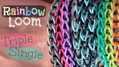 Rainbow Loom Triple Single Bracelet - How To