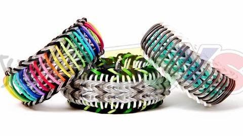Super Stripe Fishtail - Rainbow Loom Bracelet Tutorial - One Loom Advanced Evolved Sailors Pinstripe-0