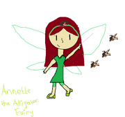 Annette the Alligator Fairy drawn by Destiny
