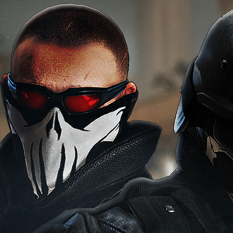 Thermite, Pulse and Castle showing off Skull Headgear