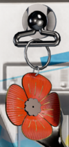 Decorated Poppy Charm