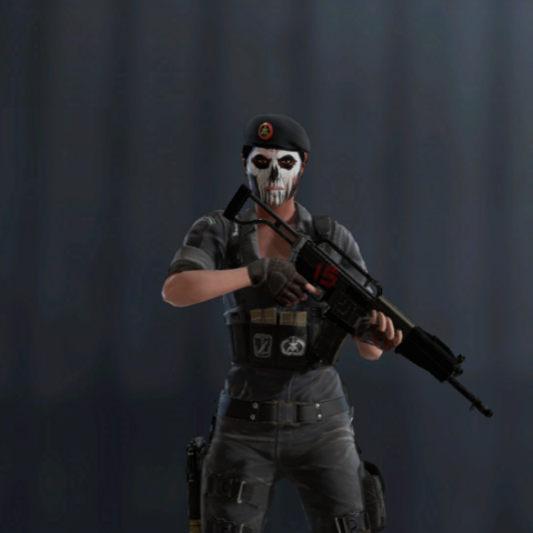 Caveira armed with SPAS-15 (Pre-Blood Orchid)