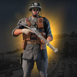 Thermite in his Vintage Bureau Elite Set (In-Game)