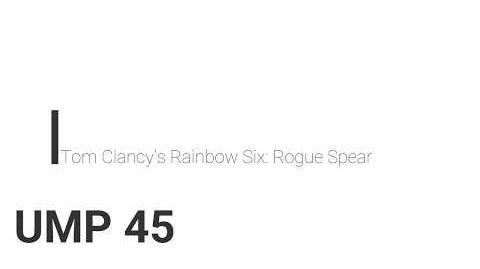 Rainbow Six- Rogue Spear UMP 45